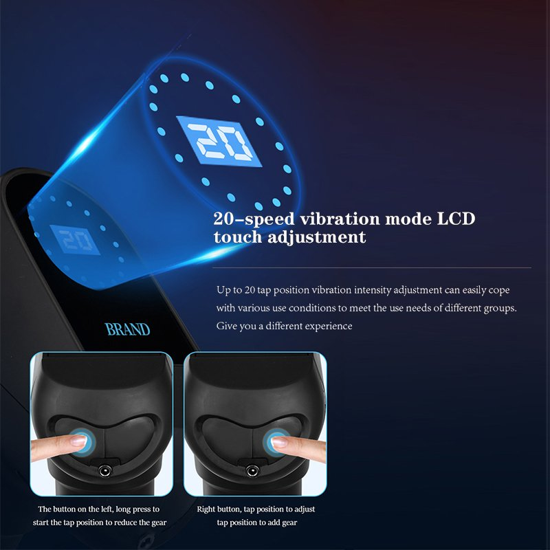 20 speed vibration mode lcd touch adjustment