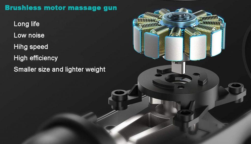 Advantages of brushless massage gun