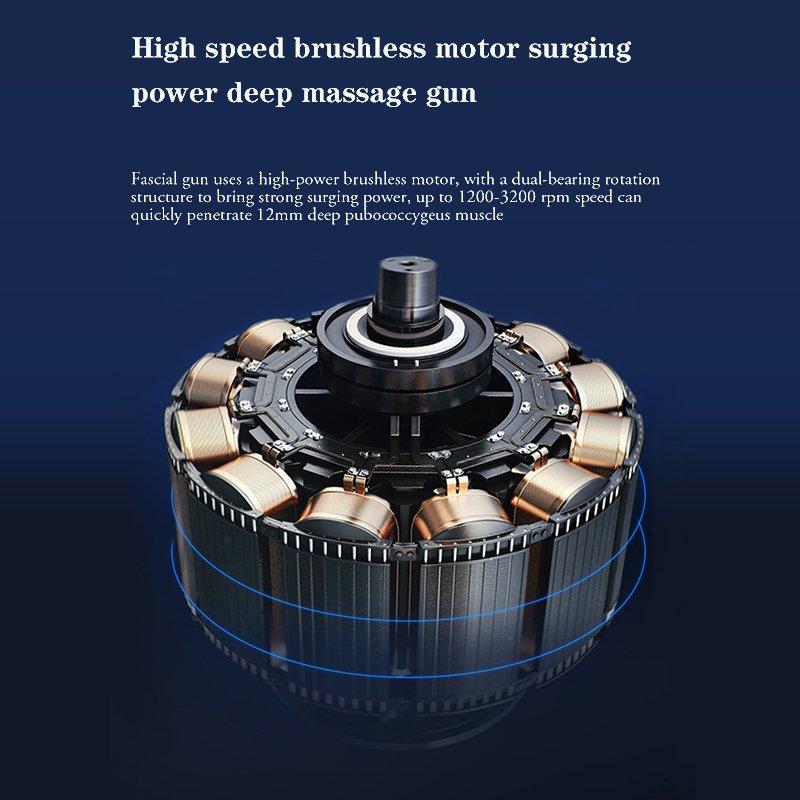 deep tissue massage gun high speed brushless motor