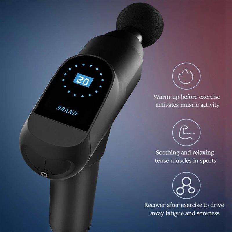 lce touch screen massage gun