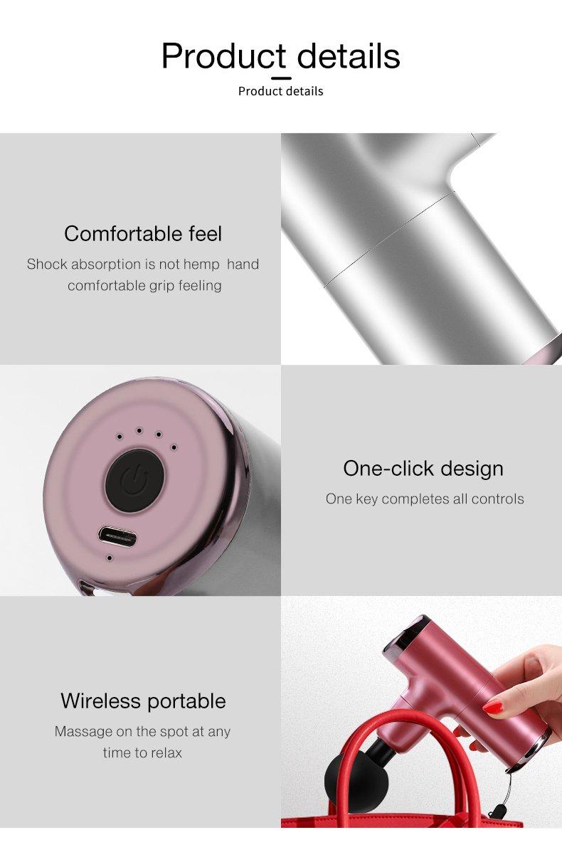 pocket gun massager detail