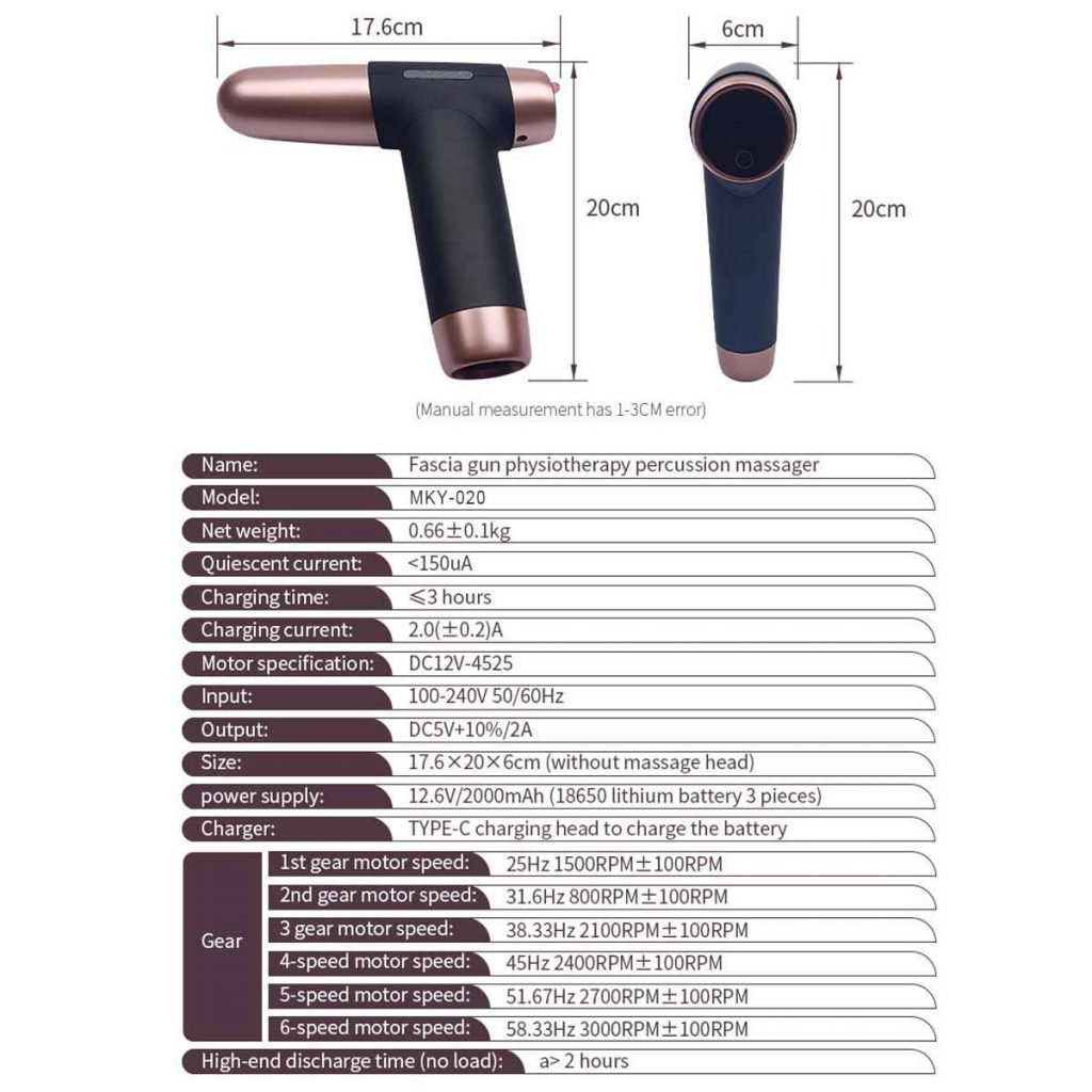 muscle massager specificaiton SoonPam