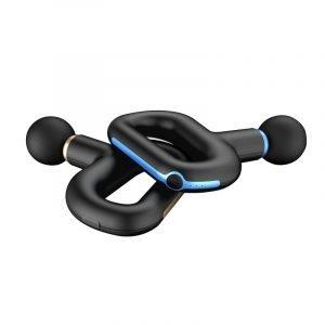 black-blue massage gun