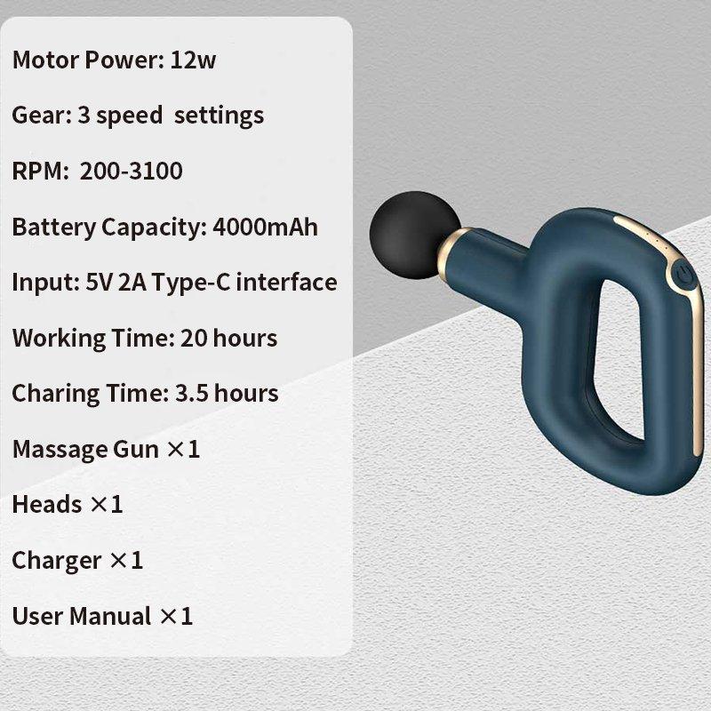 massage gun specification