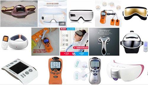 various massage equipment